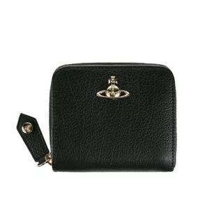 Vivienne Westwood balck zippered wallet NEW